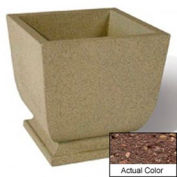 Wausau SL450 Square Outdoor Planter - Weatherstone Brown 24x24x30