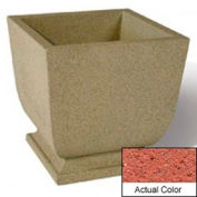 Wausau SL450 Square Outdoor Planter - Weatherstone Brick Red 24x24x30