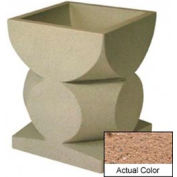Wausau SL465 Square Outdoor Planter - Weatherstone Sand 24x24x30