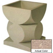 Wausau SL465 Square Outdoor Planter - Weatherstone Buff 24x24x30