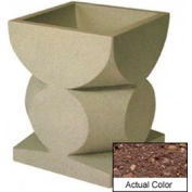 Wausau SL465 Square Outdoor Planter - Weatherstone Brown 24x24x30