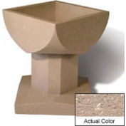 Wausau SL475 Square Outdoor Planter - Weatherstone Buff 33-1/2x33-1/2x30