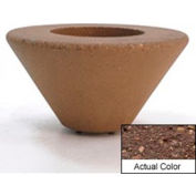 Wausau SL476 Round Outdoor Planter - Weatherstone Brown 36x18
