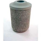 "Concrete Waste Receptacle W/Gray Pitch In Top- 24"" Dia x 37"" Sand"