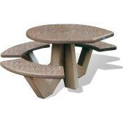"Wausau Tile 66"" ADA Compliant Concrete Oval Picnic Table, Sand"