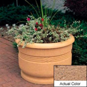 Wausau TF4026 Round Outdoor Planter - Weatherstone Sand 36x24