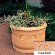 Wausau TF4026 Round Outdoor Planter - Weatherstone Cream 36x24