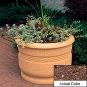 Wausau TF4026 Round Outdoor Planter - Weatherstone Brown 36x24