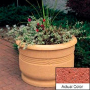 Wausau TF4026 Round Outdoor Planter - Weatherstone Brick Red 36x24