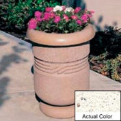 Wausau TF4027 Round Outdoor Planter - Weatherstone White 26x24