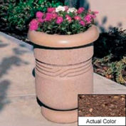 Wausau TF4027 Round Outdoor Planter - Weatherstone Brown 26x24
