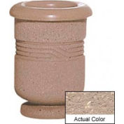Wausau TF4028 Round Outdoor Planter - Weatherstone Buff 18x24
