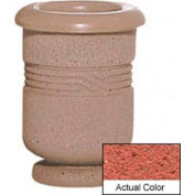 Wausau WS4028 Round Outdoor Planter - Weatherstone Brick Red 18x24