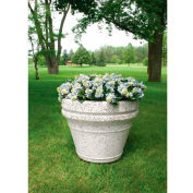 Wausau TF4042 Round Outdoor Planter - Smooth Stained Light Charcoal 36x29