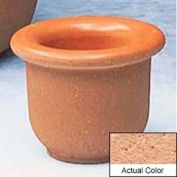 Wausau TF4045 Round Outdoor Planter - Weatherstone Cream 18x12