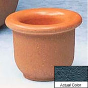 Wausau TF4045 Round Outdoor Planter - Weatherstone Charcoal 18x12