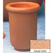 Wausau TF4050 Round Outdoor Planter - Weatherstone Cream 18x24