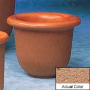 Wausau TF4055 Round Outdoor Planter - Weatherstone Sand 30x24