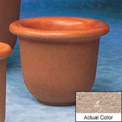 Wausau TF4055 Round Outdoor Planter - Weatherstone Buff 30x24