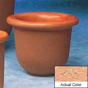 Wausau TF4055 Round Outdoor Planter - Weatherstone Cream 30x24