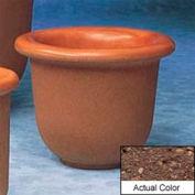 Wausau TF4055 Round Outdoor Planter - Weatherstone Brown 30x24