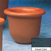 Wausau TF4055 Round Outdoor Planter - Weatherstone Charcoal 30x24