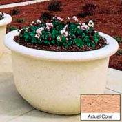 Wausau TF4065 Round Outdoor Planter - Weatherstone Cream 60x42