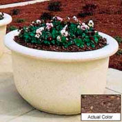 Wausau TF4065 Round Outdoor Planter - Weatherstone Brown 60x42