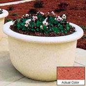 Wausau TF4065 Round Outdoor Planter - Weatherstone Brick Red 60x42