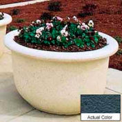 Wausau TF4065 Round Outdoor Planter - Weatherstone Charcoal 60x42