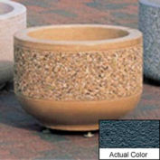 Wausau TF4075 Round Outdoor Planter - Weatherstone Charcoal 24x17