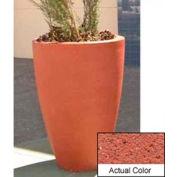 Wausau TF4086 Round Outdoor Planter - Weatherstone Brick Red 30x42