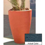 Wausau TF4086 Round Outdoor Planter - Weatherstone Charcoal 30x42