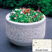 Wausau TF4095 Round Outdoor Planter - Weatherstone White 36x26