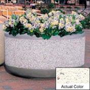 Wausau TF4110 Round Outdoor Planter - Weatherstone White 48x24