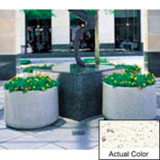 Wausau TF4115 Round Outdoor Planter - Weatherstone White 48x26