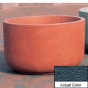 Wausau TF4120 Round Outdoor Planter - Weatherstone Charcoal 48x30