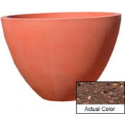 Wausau TF4122 Round Outdoor Planter - Weatherstone Brown 48x36