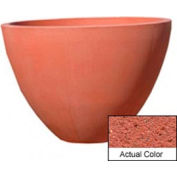 Wausau TF4122 Round Outdoor Planter - Weatherstone Brick Red 48x36