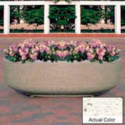 Wausau TF4125 Round Outdoor Planter - Weatherstone White 60x17
