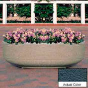 Wausau TF4125 Round Outdoor Planter - Weatherstone Charcoal 60x17
