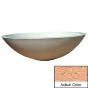 Wausau TF4128 Round Outdoor Planter - Weatherstone Cream 60x18