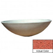 Wausau TF4128 Round Outdoor Planter - Weatherstone Brick Red 60x18