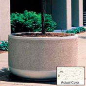 Wausau TF4129 Round Outdoor Planter - Weatherstone White 60x30