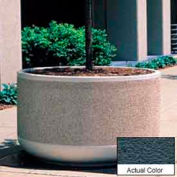 Wausau TF4129 Round Outdoor Planter - Weatherstone Charcoal 60x30