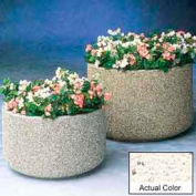 Wausau TF4135 Round Outdoor Planter - Weatherstone White 72x36