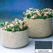 Wausau TF4135 Round Outdoor Planter - Weatherstone Charcoal 72x36