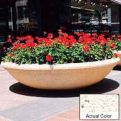 Wausau TF4143 Round Outdoor Planter - Weatherstone White 72x18