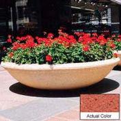Wausau TF4143 Round Outdoor Planter - Weatherstone Brick Red 72x18