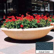 Wausau TF4143 Round Outdoor Planter - Weatherstone Charcoal 72x18
